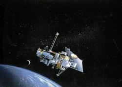 UARS Uydusu'nun Dünya yörüngesindeki bir görseli
