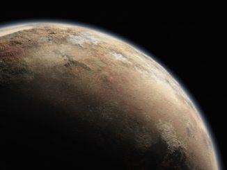 Plüton'un atmosferinin bir görseli