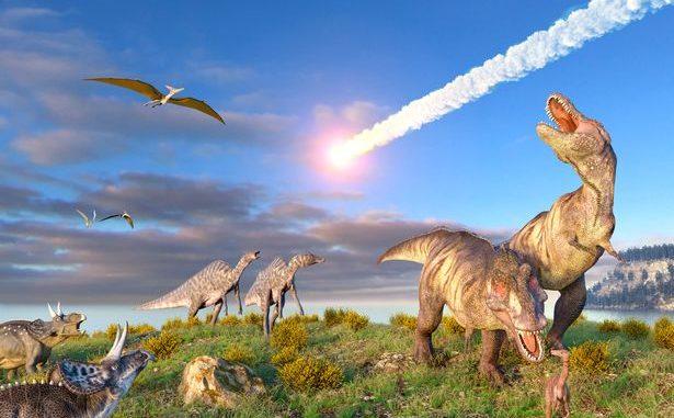 Dinozorları yok eden gök taşı görseli