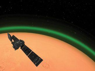 Mars atmosferindeki yeşil ışık Görseli