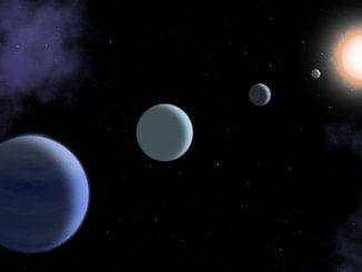 Kepler-160 yıldız sistemi görseli