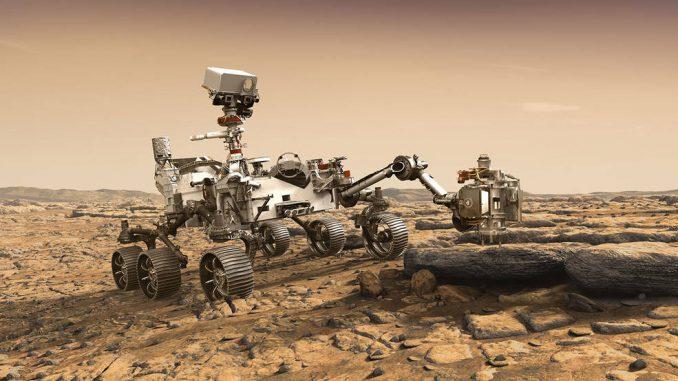 Mars keşif aracı Perseverance'nin fotoğrafı