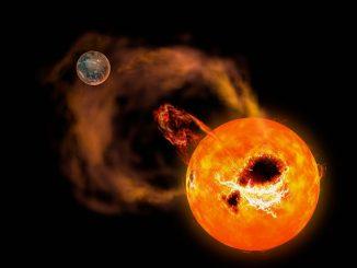 AD Leonis yıldızında gerçekleşen güneş patlaması fotoğrafı