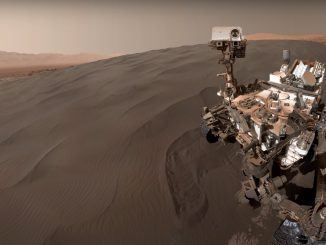 Mars gezgini Curiosity'nin Fotoğrafı