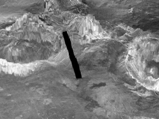 Venüs yüzeyinin 3 boyutlu bir modeli