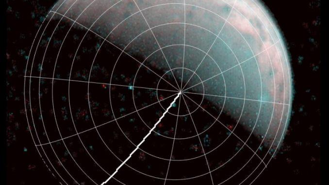 Jüpiter'in uydusu Ganymade'in kuzey kutbunun fotoğrafı