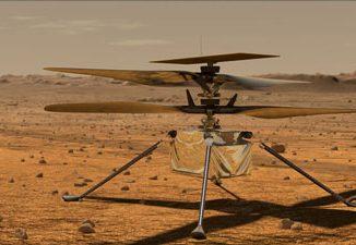 Ingenuity adlı Mars helikopterinin görseli