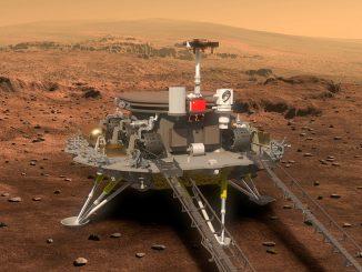 Çin'in Mars Tianwen-1 misyonuna ait uzay aracı görseli