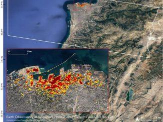 Beyrut'un uydu fotoğrafı