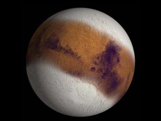 Mars'ın buzla kaplı görseli