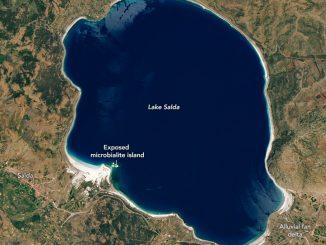 Salda Gölü'nün uydu fotoğrafı