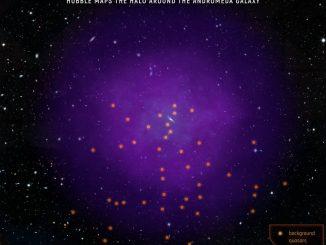 Andromeda Galaksisi'nin Halesinin Fotoğrafı