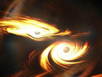 Çarpışan iki kara delik fotoğrafı