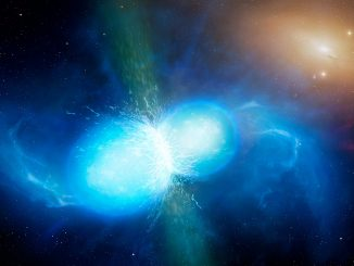 İki nötron yıldızının birleşmesinin fotoğrafı