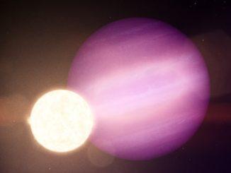 Bir beyaz cüce ve etrafında dönen bir gezegenin görseli