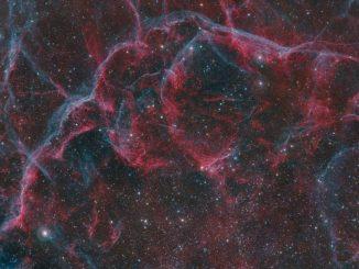 Yelken Süpernova Kalıntısı'nın olduğu bölge fotoğrafı