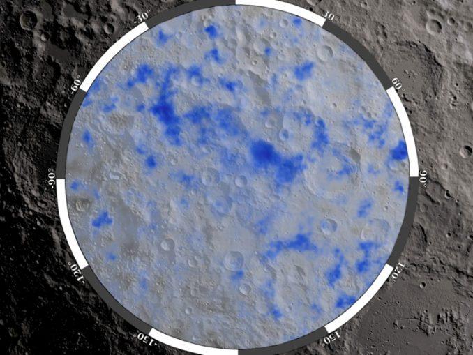 Ay'da suyun bulunduğu bölge