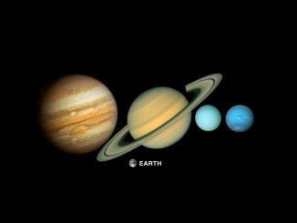 Güneş sistemindeki dev gezegenlerin Dünya ile kaşılaştırılması