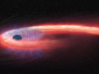 kara delik ve yutmakta olduğu bir yıldız