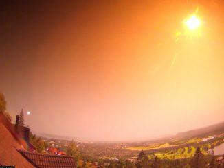 norveçte atmosfere giren meteor